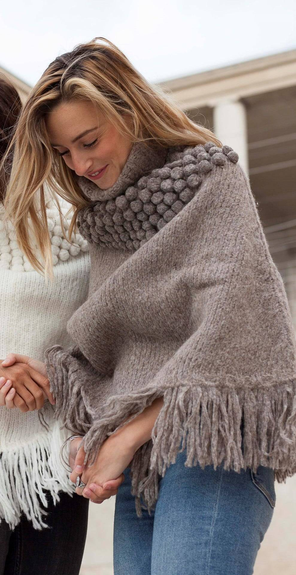 Poncho Andes taupe